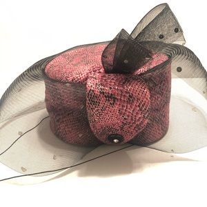 Donna Vinci Couture Rhinestone Snake Church Hat